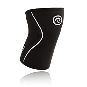 REHBAND - Tutore per ginocchio RX da uomo, Uomo, RX Kniebandage, nero, S/5 mm