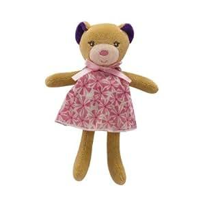 Kaloo Petite Rose : Mini poupée ours : robe à fleurs