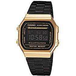 3468626893e5 Casio Reloj Digital para Unisex de Cuarzo con Correa en Acero Inoxidable  A168WEGB-1BEF