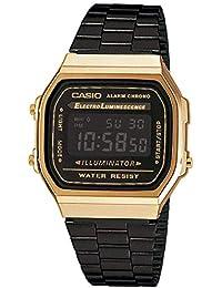 Casio Mixte Adulte Analogique-Digital Quartz Montre avec Bracelet en Acier Inoxydable A168WEGB-1BEF