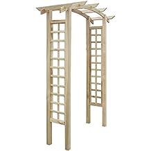 vidaXL Pérgola arco de madera para jardín, 150 x 50 220 cm