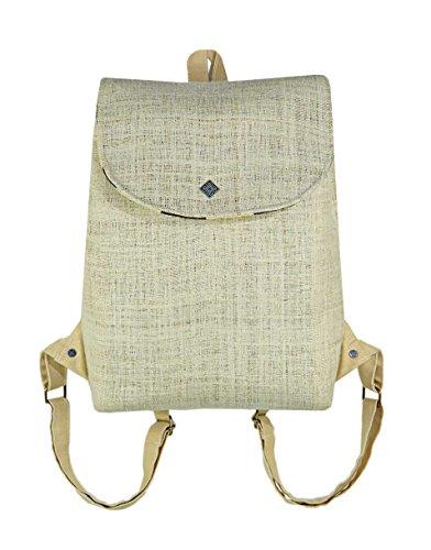 LAPPENWERK - Hanf Rucksack Damen Vintage Rucksack und Ethno Hippie Rucksack als Hanf Taschen Rucksack - Bokashi be
