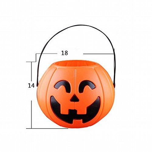 Halloween-kind-kürbis-fass-sü?igkeits-ansammlungs-kürbis-topf-halloween-dekoration Verkleiden Oben Stützen-hand-kürbis-beutel,Großer (Zorro Verkleiden)