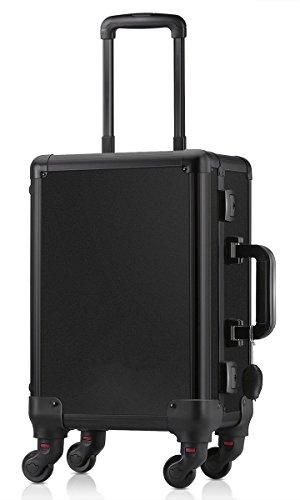 Friseur-trolley Box (Crisnails® Beauty Case Trolley Make-up Kosmetik Friseur Koffer Make-Up Box Tools Gepäck Schwarz)
