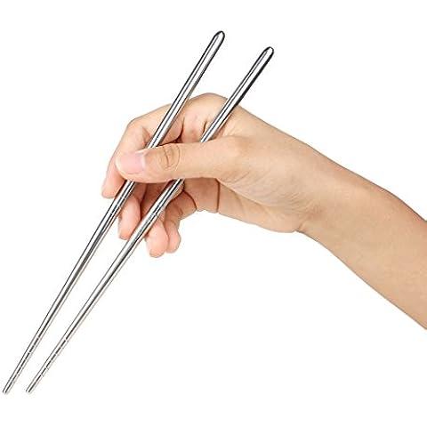 Acciaio inossidabile Picnic bacchette cucchiaio e forchetta tavola Kit