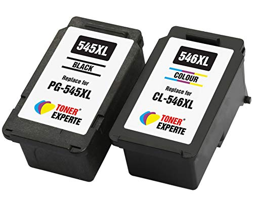 PG545 PG-545XL CL546 CL-546XL TONER EXPERTE® 2er Set Druckerpatronen kompatibel für Canon Pixma MG2450 MG2550 MG2550S MG2950 MX490 MX495 iP2850 TS205 TS305 TS3150 TS3151 TR4550 TR4551 | hohe Kapazität