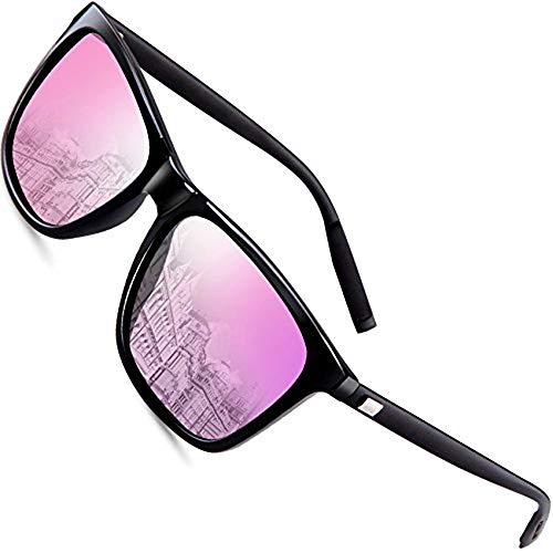 wearPro Sunglasses Mens Retro Vintage Polarized Sun Glasses WP1003 (pink, 2.16)