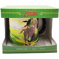 Zelda Ocarina of Time Enlace XXL taza de cerámica 600ml negro