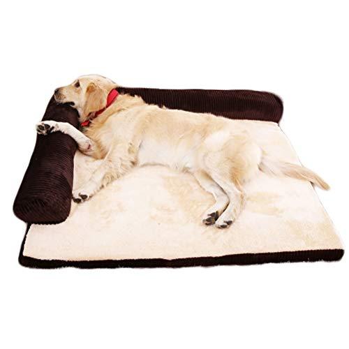 ZXLLO Divano Letto per Cani Ortopedici Divano Sfoderabile Materasso Memory-Foam Premium Ortopedico Letto per Cani,Nero,XL:110 * 95 * 20cm