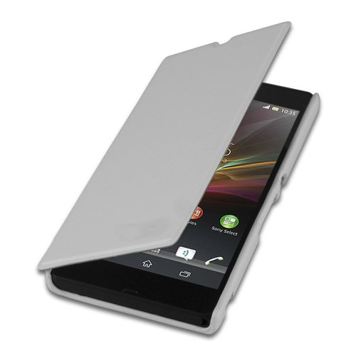 NKCreations Flip Cover Case for Sony Xperia M C1904/C1905 (White)