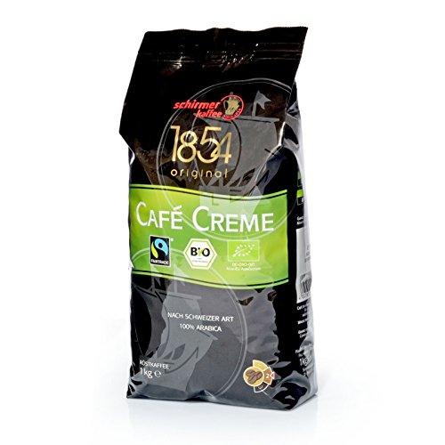 Schirmer Kaffee Cafe Creme Fairtrade, ganze Bohnen, Kaffeebohnen, 8er Pack, 8 x 1000g
