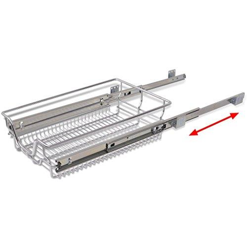 VidaXL 2x Teleskop Schublade Küchenschublade Küchenschrank