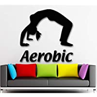 Ajcwhml Name Wall Stickers Sports 3D Girl Fitness Gym Woman Vinyl Decal 44X70Cm