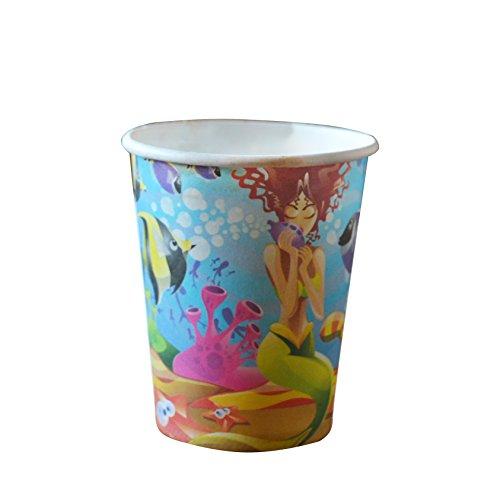 CM Products Party Gobelet en carton Lot de 50jetables pour enfants fête d'anniversaire avec Funny Imprimé coloré