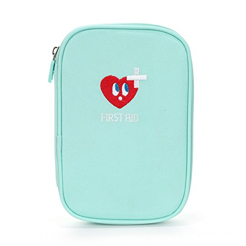 Erste Hilfe Set,Lifesport Verbandkasten Erste-Hilfe-Koffer First Aid Kit Notfalltasche Medizinisch Tasche Oxford Tuch Medicine Pouch für Haus Auto Camping Jagd Reisen Natur und Sport (Hellblau)