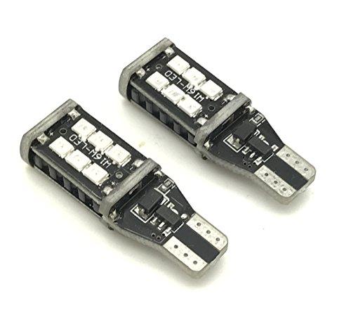 Safego 2x T15 W16W T10 LED Ampoule 15SMD 2835 Pour Voiture Parking Lumière de Sauvegarde Lumière Blanc Lumineux 12V 6000K