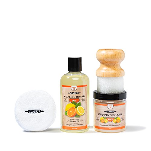 16 Unzen-orange Öl (Clarks Finishing Schneidebrett Kit orange-Lemon Scent Brettschneidöl Schneidebrett Wachs Kleinen Applicator Schwabbelpolsters Finishing Kit (Öl, Wachs, Applicator) Orange Zitronenduft)