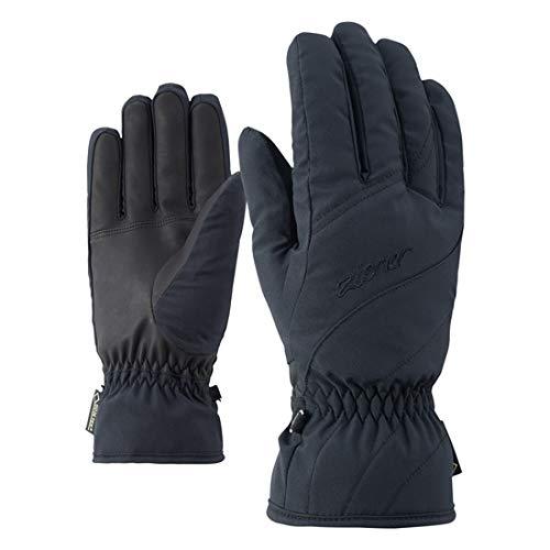Ziener Damen KIMAL GTX Lady Glove Ski-Handschuhe/Wintersport | Wasserdicht, Atmungsaktiv, Black, 6,5
