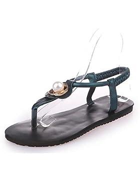 Xia Jiping playa inferior zapatos de las sandalias clip de las sandalias estudiante pone un pie , blue , US8 /...