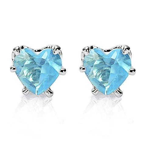 Rizilia Bijoux Coeur Cut 5mm Bleu vert Couleur Gemstones Bien