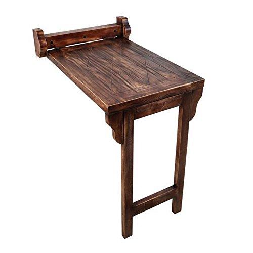 FEI Table de salle à manger pliante en bois massif pour balcon