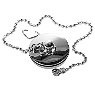 Chrome Sink Plug with Chain for Kitchen or Bath 1 3/4 Inch