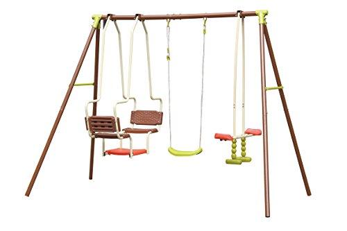Altalena Dondolo Per Bambini Adventure 5 Posti In Ferro Con Sedili Dondolo Cavallino 270 X 165 X 195 Cm