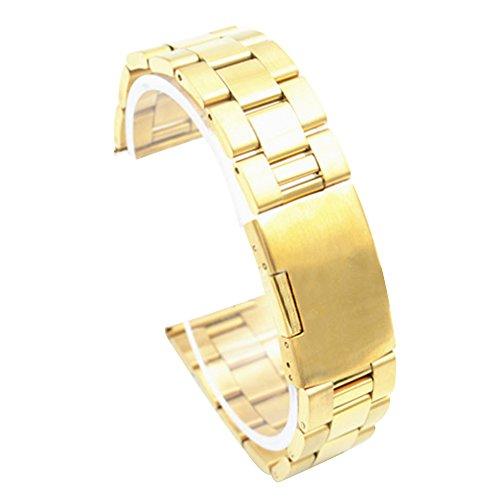 Cuitan 28mm Edelstahl-Uhrenarmband für Smart Uhren (mit Schnittstelle 28mm) (Nicht Inklusiv Uhren), Solide Ersatz-Uhrenarmband Uhrband Watchband Watch Band Smart Watch Strap - Gold