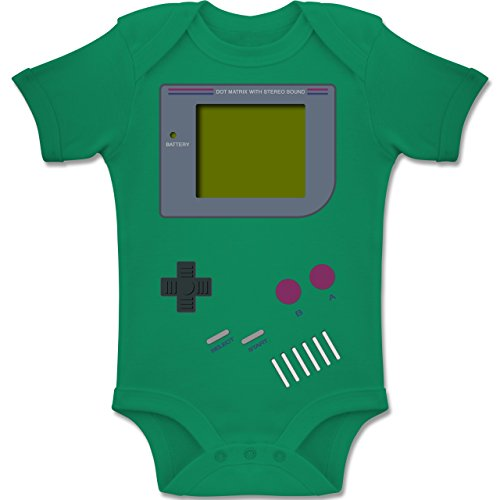 Shirtracer Strampler Motive - Gameboy - 6-12 Monate - Grün - BZ10 - Baby Body Kurzarm Jungen ()