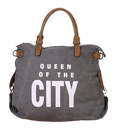 fashion-you-want-damen-henkeltasche-queen-of-the-city-grau