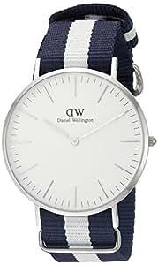 Daniel Wellington Herren-Armbanduhr XL Glasgow Analog Quarz Nylon DW00100018