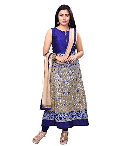 Vedika Creations Blue Colour Georgette Anarkali Salwar Kameez.