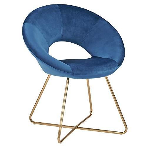 Duhome Esszimmerstuhl Stoffbezug (Samt) Blau Konferenzstuhl Besucherstuhl herausragendes Design...