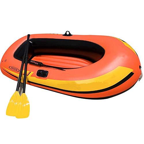 Kajak Explorer zwei oder drei Schlauchboot Verdickung Kajak Schlauchboot Gruppe Fischerboot Luftkissenfahrzeug Boot Propeller Luftpumpe / Orange senden ( Farbe : Orange , Größe : 211x117x41cm )