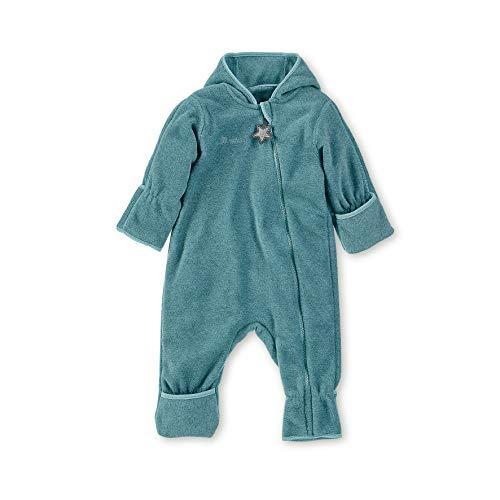 Sterntaler Fleece-Overall für Jungen und Mädchen mit Reißverschluss, Alter: 12-18 Monate, Größe: 86, Türkis