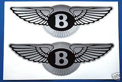 bentley-logo-estilo-plata-calcomanias-adhesivas