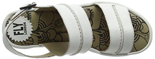 FLY London Baku635fly, Sandales Compensées femme Blanc Cassé - Off White (OFFWHITE)