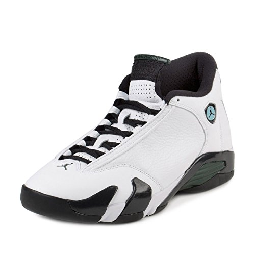 Nike Air Jordan 14 Retro, Scarpe da Basket Uomo, Blanco (White/Black-Oxidized Green-Legend Blue), 44 EU