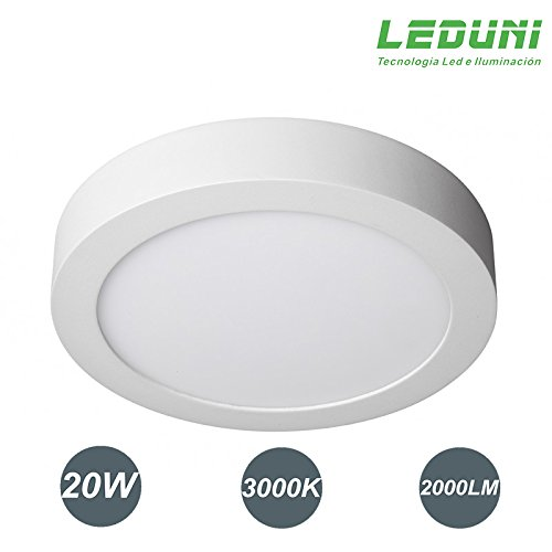 LEDUNI ® Downlight panel superficie led circular 20w plafon Redondo Mejor Precio...