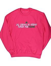 HippoWarehouse LAS SIRENAS DE VERDAD FUMAN MARIHUANA jersey sudadera suéter derportiva unisex