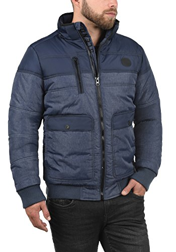 BLEND Borinho Herren Winterjacke Stepp-Jacke mit Kapuze aus hochwertiger Materialqualität Navy (70230)
