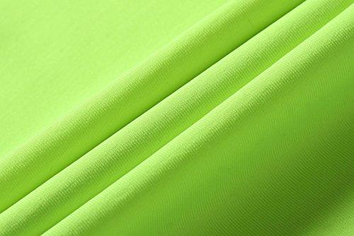 jeansian Femme Casual T-Shirts et Tops de Sport Gilet T-Shirt Women Sport Elastic Quick-Drying Vest Tops SMF001 GreenYellow