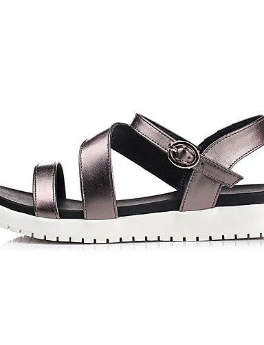 LFNLYX Chaussures Femme-Décontracté / Soirée & Evénement / Habillé-Blanc / Bronze-Plateforme-Compensées / Gladiateur-Sandales-Similicuir White
