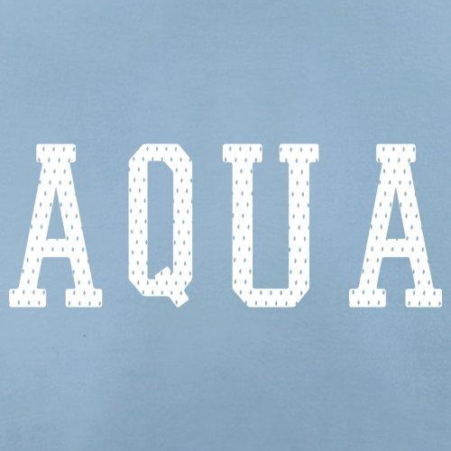 Justice Aqua College Style - Herren T-Shirt - 13 Farben Himmelblau