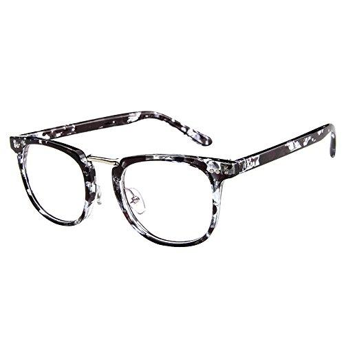 Forepin® Dame Durchsichtig klare Linse Klarglas Brille Rahmen Mädchen Unisex Gläser Wechselgläser Brillenfassungen
