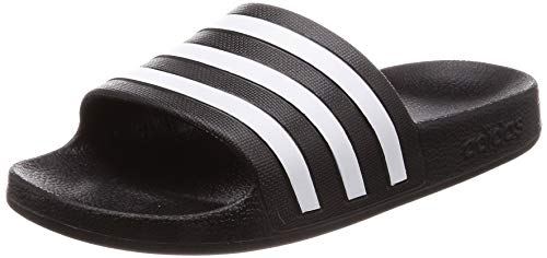 adidas Adilette Aqua, Scarpe da Spiaggia e Piscina Unisex-Adulto, Nero (Negro 000), 44 2/3 EU