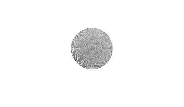 """rund Zeller Present 26817 /""""Cut Out/"""" Tischset 6 Stück PVC silber Ø 41 cm"""