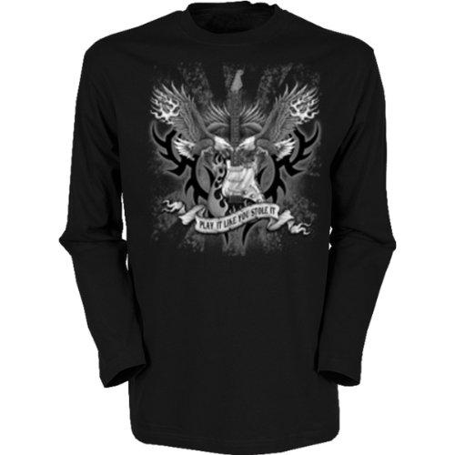 Marken Langarmshirt - Motiv Play It Like you Stole It - cooles Langarm Shirt Geschenk Herren Weihnachten Geburtstag Schwarz