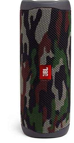 JBL Flip 5 Bluetooth Box (Wasserdichter, portabler Lautsprecher mit umwerfendem Sound, bis zu 12 Stunden kabellos Musik abspielen) camouflage