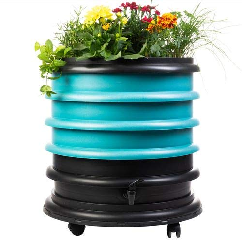 WormBox : Wormery composter 3 Turquoise Trays + Planter - 56 liters
